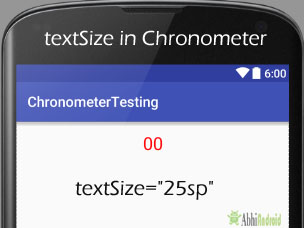 textSize in Chronometer Android