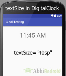 textSize in DigitalClock Android