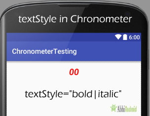 textStyle in Chronometer Android