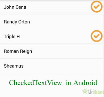 CheckedTextView Tutorial With Example In Android Studio