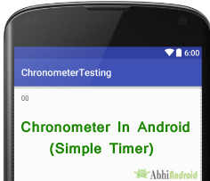 Chronometer in Android