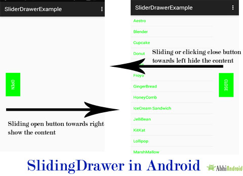 Sliding Drawer in Android