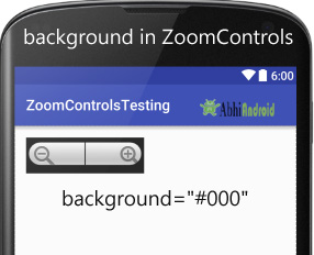 background in ZoomControls Android