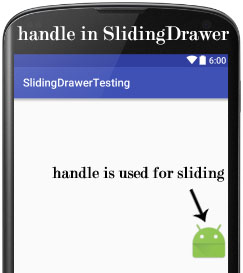 handle sliding drawer Android