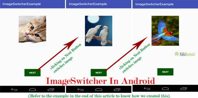 ImageSwitcher in Android