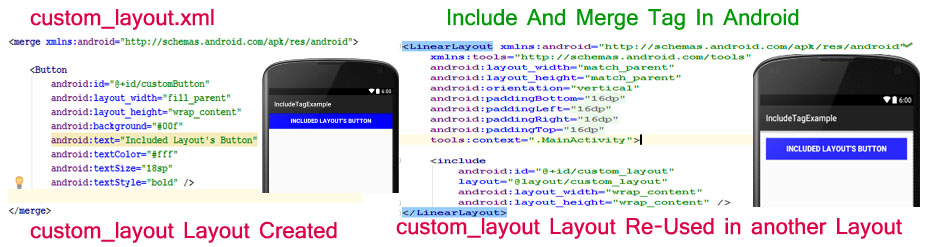 Include Merge Tag Tutorial With Example In Android Studio