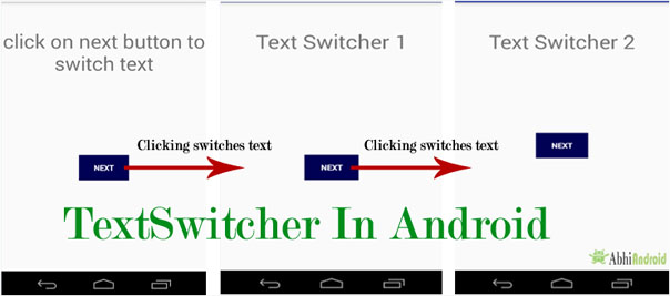 TextSwitcher in Android