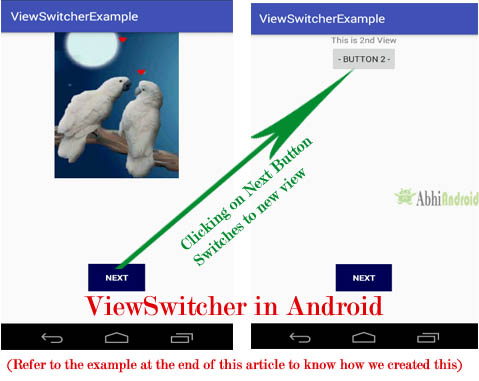 ViewSwitcher in Android