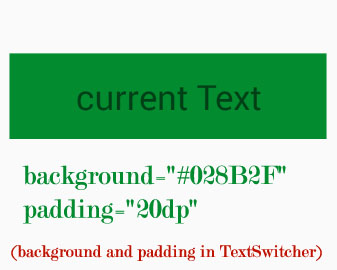 background padding in TextSwitcher Android