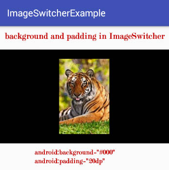 padding and background attribute in ImageSwitcher