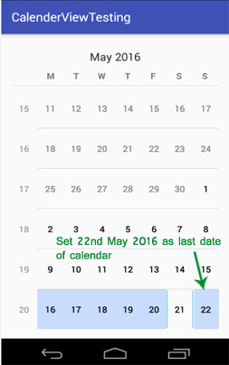 android calendar view