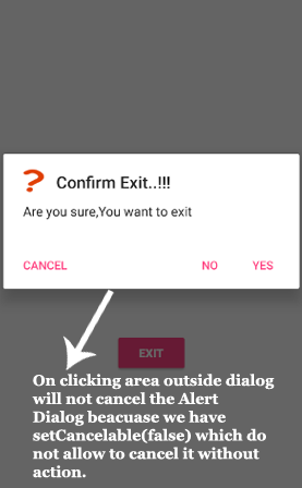 Alert Dialog Tutorial With Example In Android Studio