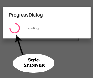 Progress Dialog Style Spinner In Android Studio