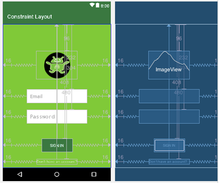 Constraint Layout Example In Android Studio
