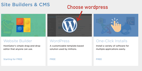 Choose WordPress for blogging