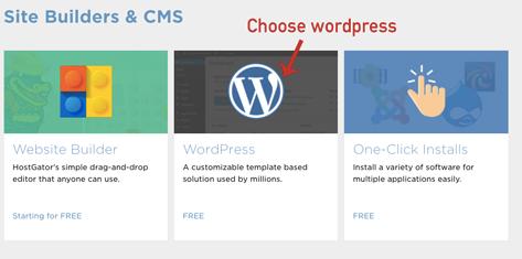 Choose WordPress for blogging