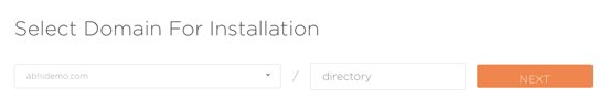Select-domain-for-installation